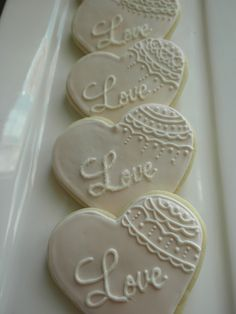 wedding cookies for bridal shower (roll out sugar cookies wedding dresses) Fancy Cookies, Heart Cookies, Iced Cookies, Cut Out Cookies, Royal Icing Cookies, Custom Cookies, Cookies Et Biscuits, Cupcake Cookies, Sugar Cookies