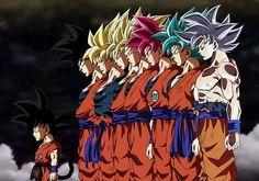 Son Goku Transformations by Dark-Crawler on DeviantArt Dragon Ball Gt, Dragon Ball Image, Mega Anime, Anime Sexy, Goku Transformations, Foto Do Goku, Vegito Y Gogeta, Akira, Anime Comics