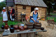 Yorktown Victory Center, Yorktown, Virginia provides a glimpse at a post-Revolutionary War working Tidewater Virginia farm.  It includes the house with separate kitchen, tobacco barn, gardens and fields.