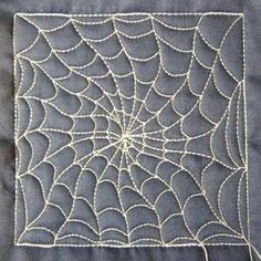 Spiderweb Quilting Design. I would love to fill in the negative space, not embroider the web itself. (Reverse the spaces).
