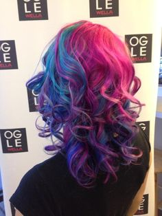 Pin for Later: 101 Real Girls Who Dare to Rock Rainbow Hair Punky Princess Curls Source: Reddit user mirandabell