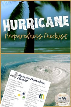 It's hurricane season! Use this handy free printable hurricane checklist. Hurricane Preparedness Checklist, Emergency Preparedness, Disaster Plan, Paper Games, Survival Hacks, Homestead Survival, Shtf, Natural Disasters, Apartment Living