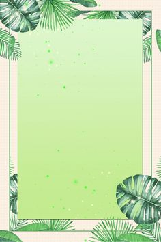 Framed Wallpaper, Graphic Wallpaper, Green Wallpaper, Flower Wallpaper, Flower Background Design, Paint Background, Watercolor Background, Background Templates, Background Patterns