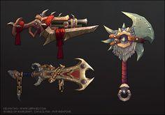 Cataclysm - PVP Weapons, Kelvin Tan on ArtStation at http://www.artstation.com/artwork/cataclysm-pvp-weapons
