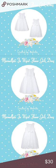 Marmellata Tie Waist Flower Girls Dress, White Details: Simple & elegant w/ a full tulle skirt. Pair it was some adorable sandals & a sparkly headband; she'll be set for the big day!  Style:Sleeveless, round neckline, Tie waist w/belt, solid white, & 100% polyester.  Size:2T 3T Brand: Marmellata  Condition: New  Reasonable offers considered. For specifics please read closet information at the beginning of my closet.   Bundle and save! Discounts offered on orders including 3+ items. 🛒📦📭…