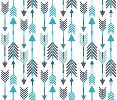Arrow Blues fabric by endemic on Spoonflower - custom fabric