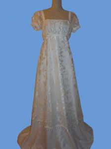Early 1800s Regency Gown Costume Bridal Wedding Dress Custom Made To Your Size; Emily always dreamed of a Regency Period wedding gown