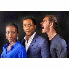Lupita Nyong'o, Chiwetel Ejiofor and Michael Fassbender