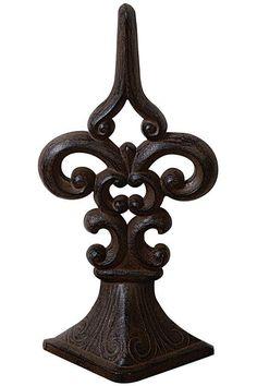 Fleur de Lis Door Stopper, the best looking way to prop open the door - #HomeDecorators