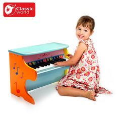 (145.55$)  Buy here - http://ais7z.worlditems.win/all/product.php?id=32795402590 - Classic World Child Piano Baby 8-Note Wooden Musical Toys for kid Wisdom Juguetes Music Instrument girl boy Birthday gift