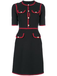 All day dresses. Never be stuck without something to wear with our collection of designer day dresses at Farfetch. Black Skirt Suit, Red Black Dress, Day Dresses, Nice Dresses, Dresses For Work, Gucci Dress, Gucci Gucci, Work Chic, Daily Dress