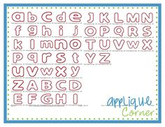 """Chunky Applique Font - 2"""", 2.5"""", 3"""", 3.5"""", 4"""", 5"""", 6"""""""