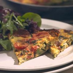 Zucchini Frittata Recipe.  Made for guests this weekend with farm fresh eggs.  Huge hit!  And it took minimal time!
