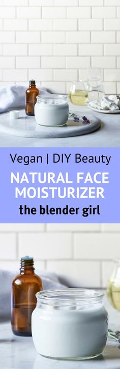 This homemade natural face moisturizer is so easy to make and really beautiful and effective. Just blend and seal in jars.