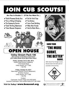 recruitment brochure summary of cub scouts. This site has