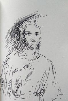 16 Avril 2018, évangile du jour illustré par un dessin au lavis