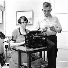 Fritz Eschen, Ringelnatz mit seiner Frau Muschelkalk 1933.
