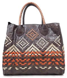 Sepia Ikat Tote | Awesome Selection of Chic Fashion Jewelry | Emma Stine Limited