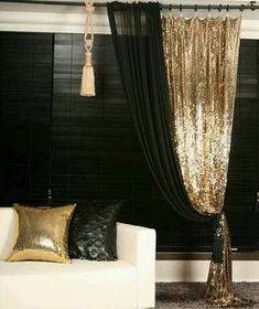 Sequin Pillow for Sofa