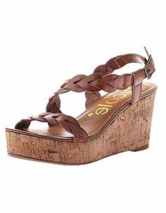 Nicole Dade Platform Wedge inTan- Women's Shoes