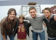Sam & Dean with younger selves (: