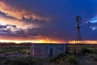Windmill Sunset Strike. Rob Southey is a farmer from South Africa who also takes the most amazingly beautiful photos on his farm in the Karoo.