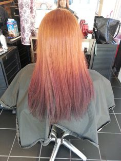 red ombre hair for winter....@Allison Johnson Viereck