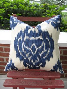 Etsy Ikat Pillows - Handmade Finds - Bright Bold and Beautiful Blog