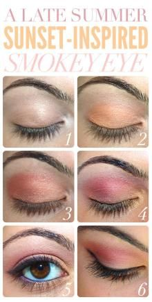 Check out this sunset summer eye look<3 Eye makeup / Eye Makeup Tutorials - Fereckels. Sunset inspired smokey eye #summer #makeup #eyeshadow