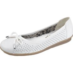 RIEKER Ballerina shoes white