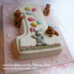 https://flic.kr/p/FZNeZT | Mia's-First-Birthday-Cake | First birthday cake for Mia. Chocolate biscuit cake in the shape of a number one.