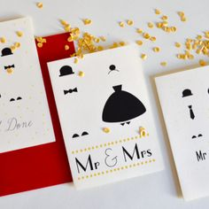 Mr & Mrs Cards - Paper goods from Wedding Paper, Paper Goods, Stationery, Cards, Design, Papercraft, Paper Mill, Office Supplies, Design Comics