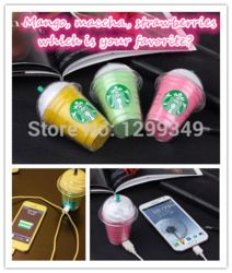 Online Shop New Arrival 3taste Starbucks power bank 5200mAh portable charger For iphone 6 plus Xiao all mobile phone External backup battery|Aliexpress Mobile
