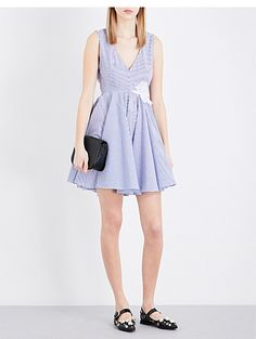 SANDRO Striped cotton dress