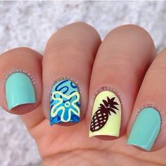 Trapical nail art ===== Check out my Etsy store for some nail art supplies https://www.etsy.com/shop/LaPalomaBoutique