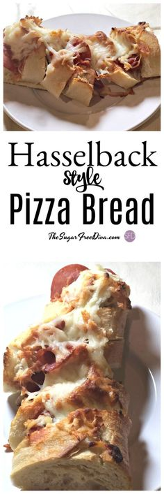 Hasselback Style Pizza Bread #pizza  #snacks #food #party #appetizer #yummy