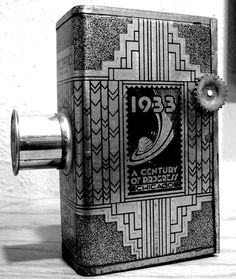 Cage Free Studio: Retro 1933 World's Fair camera keeps us rooted in history and innovation. Keep fascinating photos of the technology you use to inspire conversations.