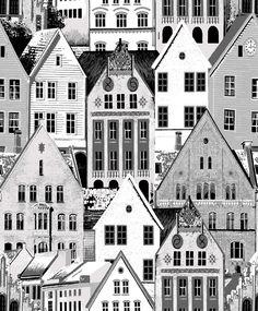 Bergen Grey wallpaper by Vallila