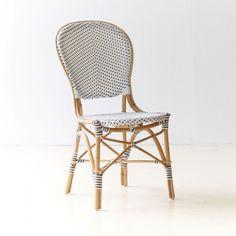 White & Cappuccino Dot Rattan Café Chairs | VivaTerra