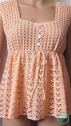 Débardeurs Au Crochet, Mode Crochet, Crochet Shirt, Crochet Girls, Crochet Woman, Thread Crochet, Crochet Stitches, Crochet Hooks, Crochet Baby