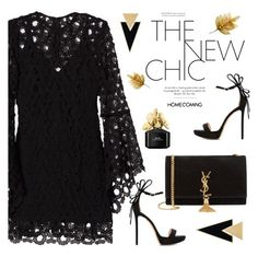 """Homecoming Style"" by rasa-j ❤ liked on Polyvore featuring Nicholas, Yves Saint Laurent, Nicholas Kirkwood, Marc Jacobs, Homecoming and womensFashion"