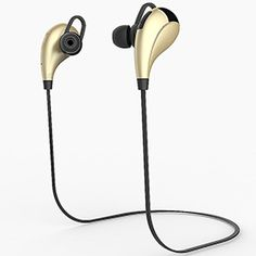 V4.1 Bluetooth Earphones Sports Earbuds Stereo Sound Headphones - Gold - #aulola - #Vouchercode - #Offers