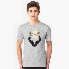 'Holy Cigarette / Praying For Nikotine' T-Shirt by RIVEofficial Tshirt Colors, Wardrobe Staples, Female Models, Classic T Shirts, Trends, Cotton, Mens Tops, How To Wear, Accessories