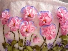 """Косметичка"""" Анютины глазки""""**embroidery ribbons** - YouTube"""