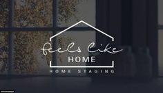homedecor logo home logo Projekt logo Home Staging - FeelsLikeHome. Restaurant Logo, Hotel Logo, Arquitectura Logo, Logos Online, Inspiration Logo Design, Property Logo, Graphisches Design, House Design, Real Estate Logo Design