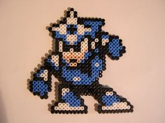 Sprite originally pulled from mega Man 3 for NES Made with Perler beads only.