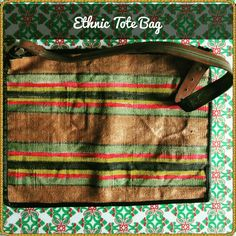 TITLE : Belt . MEDIUM : Fabric Painting on a thick dhurrie material. FEATURE : A leather belt is used as a sling.The design on the belt, is painted on the bag. #MeghnaCreations #creations #ethnictotebag #belt #fabricpainting #onthick #dhurrie #leatherbelt #usedas #sling #design #paintedbag #copper #green #red #black #bigbag #wearchic #wearuniquely #bedifferent #gift #mumbai #pintrest
