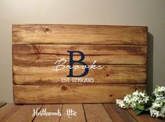 Create a unique Guest Book for your wedding with this rustic wood sign! Personalize with your last name and date. Customize with your choice of