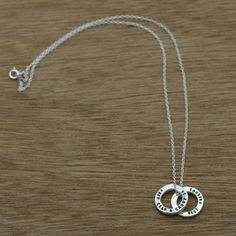 TobyE -mini personalised circles (with chain) (recycled sterling silver) by TobyE Jewellery