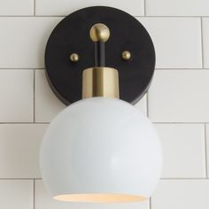 Young  House Love Bubble Sconce white_and_bronze